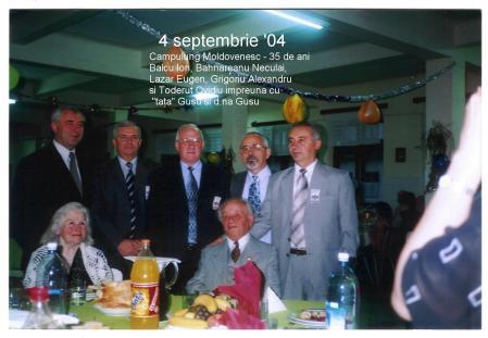 La aniversarea a 35 de ani de la aboslvirea liceului militar. Câmpulung-Moldovenesc, 4 septembrie 2004.