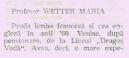 profesor Wetter Maria