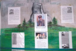 Panou memorial profesor colonel CRISTEA Aurel