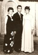 Familia Ilie: Sofia, Stefan, Liliana - 1973, Curtea de Arges.